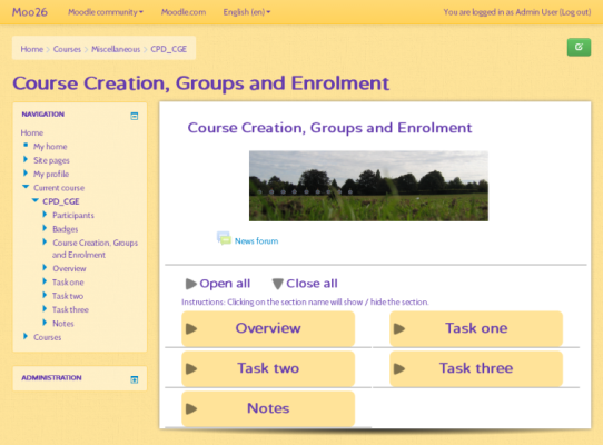 Shoelace Moodle Theme